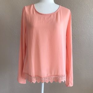 NWT Chance or Fate Pink Blouse